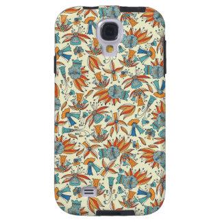 Capa Para Galaxy S4 Design floral abstrato do teste padrão