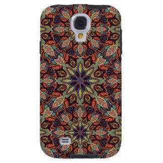 Capa Para Galaxy S4 Design floral do teste padrão do abstrato da