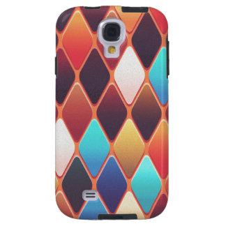 Capa Para Galaxy S4 Mosaico alaranjado do diamante