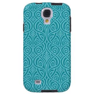 Capa Para Galaxy S4 nouveau da arte, cerceta, verde, art deco,