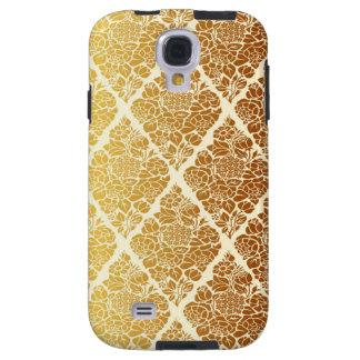 Capa Para Galaxy S4 O vintage, ouro, damasco, floral, teste padrão,