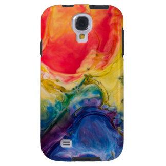 Capa Para Galaxy S4 Pintura amarela vermelha do abstrato do azul