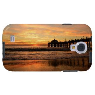 Capa Para Galaxy S4 Por do sol da praia do cais