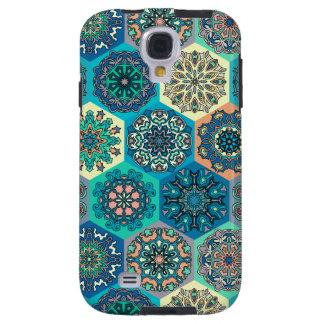 Capa Para Galaxy S4 Retalhos do vintage com elementos florais da