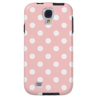 Capa Para Galaxy S4 Teste padrão de bolinhas cor-de-rosa e branco