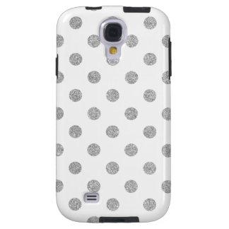 Capa Para Galaxy S4 Teste padrão de bolinhas de prata elegante do