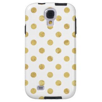 Capa Para Galaxy S4 Teste padrão de bolinhas elegante da folha de ouro