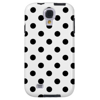 Capa Para Galaxy S4 Teste padrão de bolinhas preto e branco