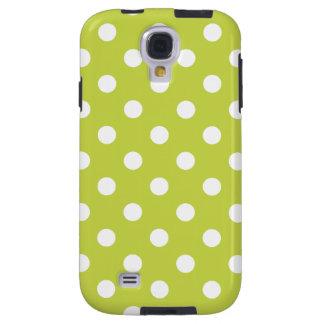 Capa Para Galaxy S4 Teste padrão de bolinhas verde