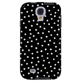 Capa Para Galaxy S4 Teste padrão de pontos preto e branco dos confetes