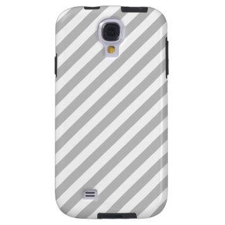 Capa Para Galaxy S4 Teste padrão diagonal do cinza e o branco das
