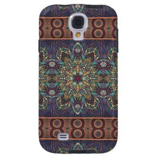 Capa Para Galaxy S4 Teste padrão floral étnico abstrato colorido da