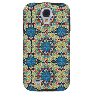 Capa Para Galaxy S4 Teste padrão floral étnico abstrato colorido de da