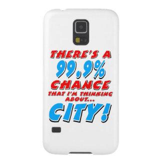 Capa Para Galaxy S5 99,9% CIDADE (preto)