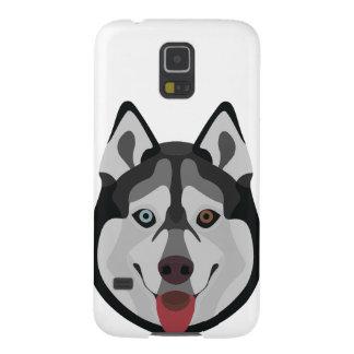 Capa Para Galaxy S5 A ilustração persegue o rouco Siberian da cara
