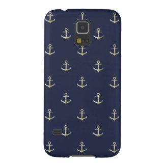 Capa Para Galaxy S5 Âncora náutica dos azuis marinhos