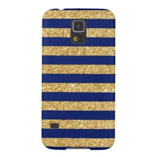 Capa Para Galaxy S5 Brilho elegante do ouro do falso e teste padrão da