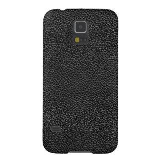 Capa Para Galaxy S5 Couro preto do falso
