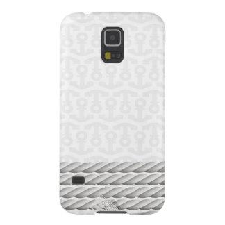 Capa Para Galaxy S5 Design náutico branco da âncora com corda