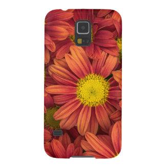 Capa Para Galaxy S5 Flores alaranjadas