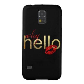 """Capa Para Galaxy S5 Galáxia S """"porque olá!"""" caixa da folha de ouro"""