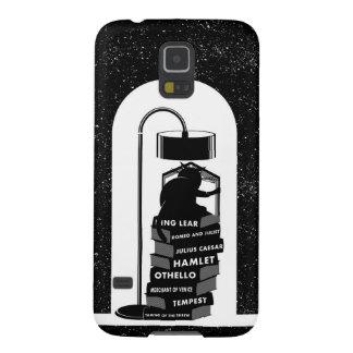 Capa Para Galaxy S5 Gato preto que lê jogos de Shakespeare