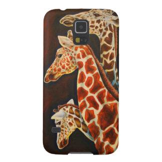Capa Para Galaxy S5 Girafas, nós arte do animal de três africanos