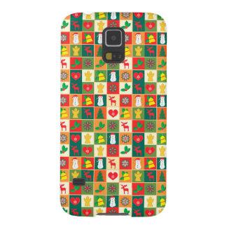 Capa Para Galaxy S5 Grande teste padrão do Natal