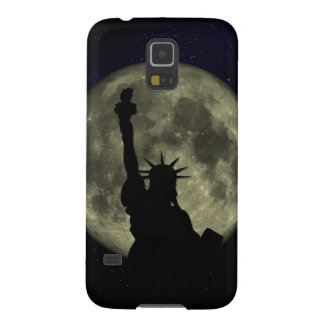 Capa Para Galaxy S5 Lua e senhora Liberdade