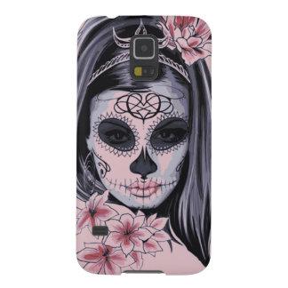 Capa Para Galaxy S5 Máscara do esqueleto da mulher