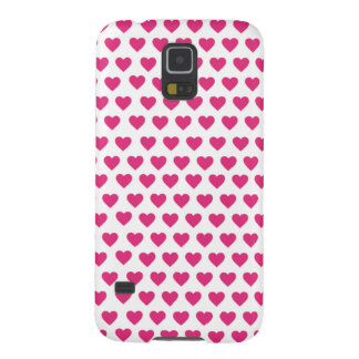 Capa Para Galaxy S5 O teste padrão coração-dado forma cor-de-rosa