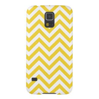 Capa Para Galaxy S5 O ziguezague amarelo e branco listra o teste