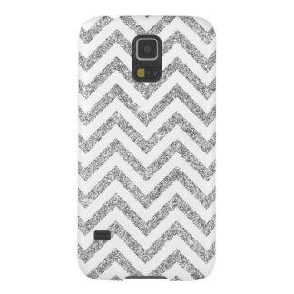 Capa Para Galaxy S5 O ziguezague de prata do brilho listra o teste