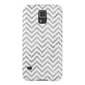 Capa Para Galaxy S5 O ziguezague elegante da folha de prata listra o