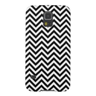 Capa Para Galaxy S5 O ziguezague preto e branco listra o teste padrão