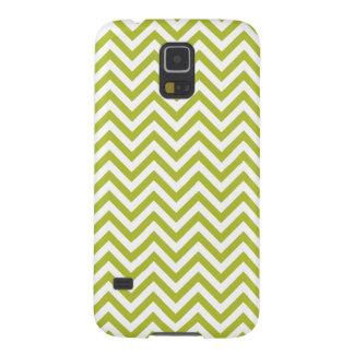 Capa Para Galaxy S5 O ziguezague verde e branco listra o teste padrão
