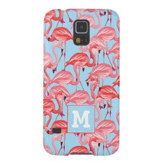 Capa Para Galaxy S5 Os flamingos cor-de-rosa brilhantes no azul |