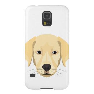 Capa Para Galaxy S5 Ouro Retriver do filhote de cachorro da ilustração