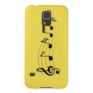 Capa Para Galaxy S5 Personalize notas musicais