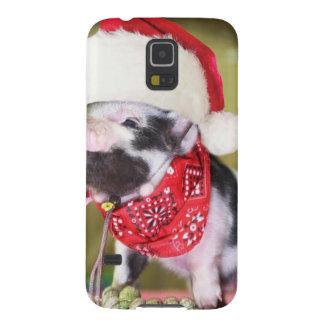 Capa Para Galaxy S5 Porco Papai Noel - porco do Natal - leitão