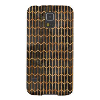 Capa Para Galaxy S5 Preto e teste padrão abstrato do ouro