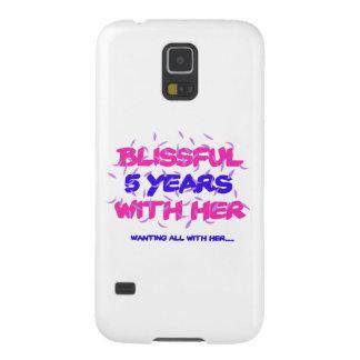Capa Para Galaxy S5 Tendendo o 5o design do aniversário do casamento