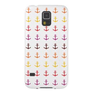 Capa Para Galaxy S5 Teste padrão colorido da âncora