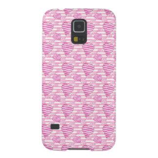 Capa Para Galaxy S5 Teste padrão cor-de-rosa dos corações