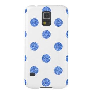 Capa Para Galaxy S5 Teste padrão de bolinhas azul elegante do brilho