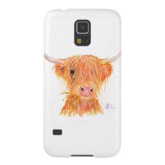 """Capa Para Galaxy S5 Vaca escocesa """"Fergus"""" das montanhas para o"""