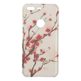 Capa Para Google Pixel Da Uncommon Flor asiática da ameixa da pintura do estilo no