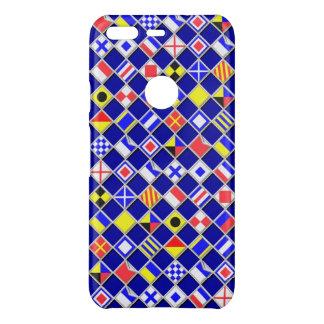 Capa Para Google Pixel Da Uncommon Teste padrão Checkered das bandeiras náuticas em a