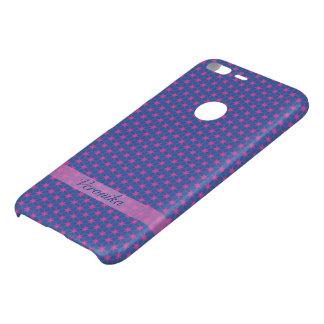Capa Para Google Pixel XL Da Uncommon Estrelas cor-de-rosa em um fundo azul