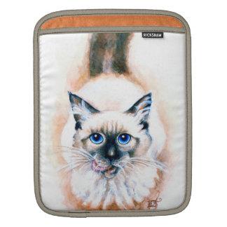 Capa Para iPad Aguarela do gato Siamese